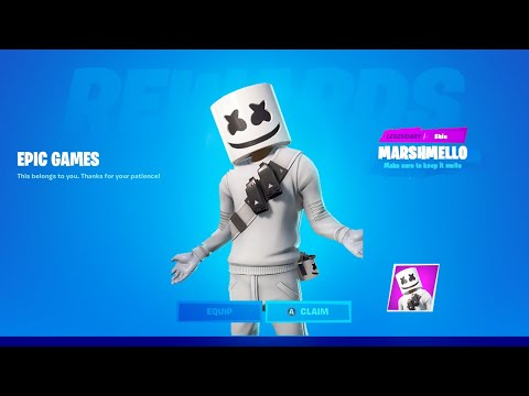HOW TO GET MARSHMELLO SKIN IN FORTNITE: CHAPTER  2 SEASON 2   Marshmello Skin RETURNS To Fortnite!