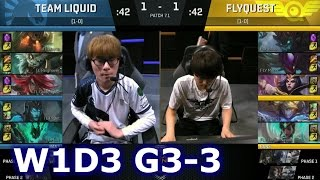 Liquid vs FlyQuest Game 3 | S7 NA LCS Spring 2017 Week 1 Day 3 | TL vs FLY G3 W1D3