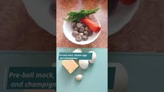 Салат с грибами и сыром Новый рецепт Быстрый ужин