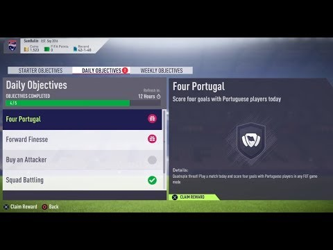 FIFA 18- Ultimate Team: Daily Objectives (Four Portugal) #494