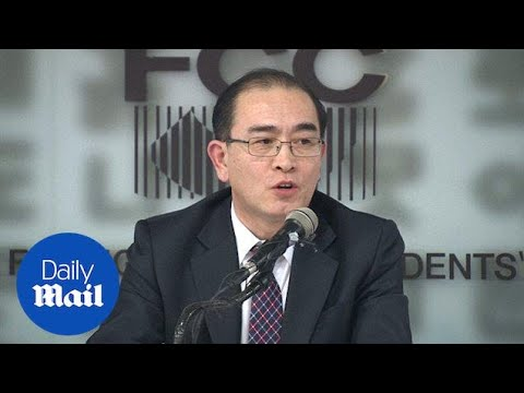 Thae Yong Ho calls North Koreans to rise up against Kim Jong-Un\'s regime - Daily Mail