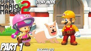 Super Mario Maker 2 Story Mode Gameplay Walkthrough Part 1