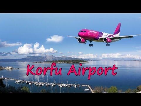 Korfu lotnisko - Corfu Airport (HD)