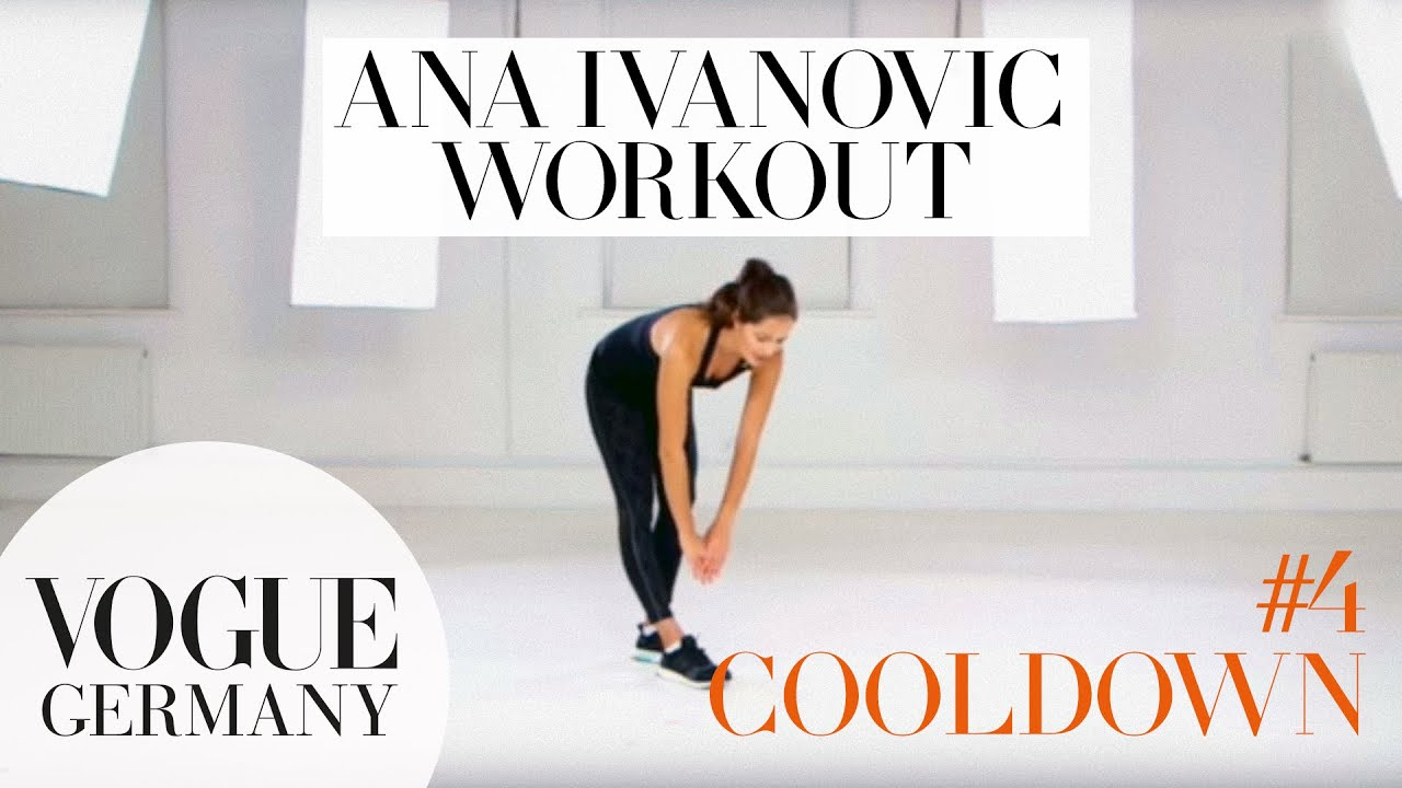 Workout mit Ana Ivanovic #4: Cooldown & Dehnen | how to fitness routine workout core training beauty