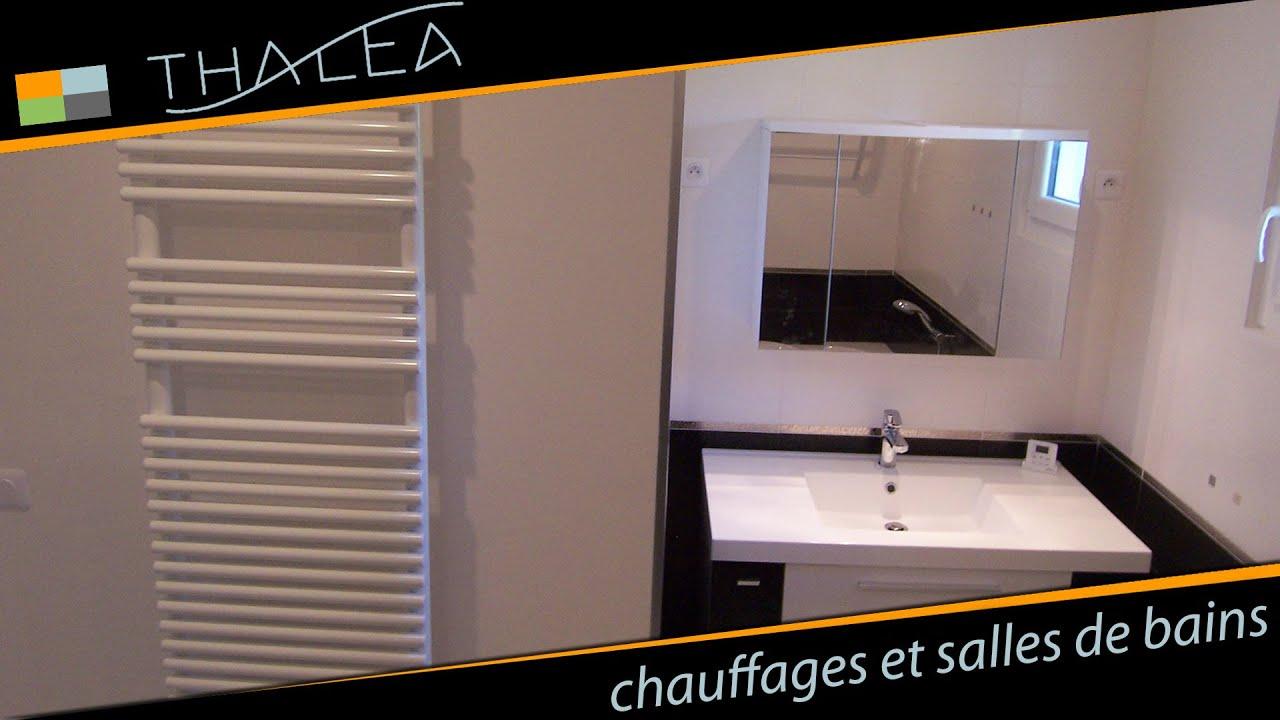 Thalea   salle de bain : meuble design, baignoire d'angle   youtube