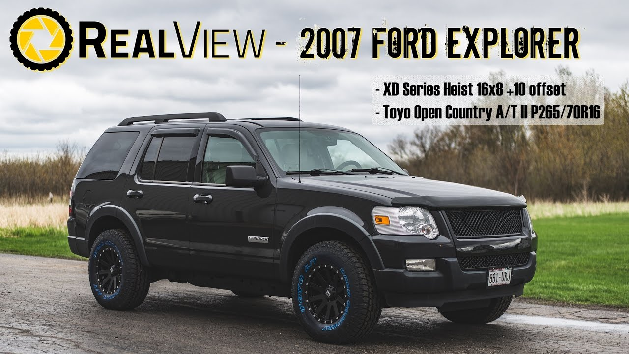 Realview 2007 ford explorer w 16 xd series heists toyo open country a t iis