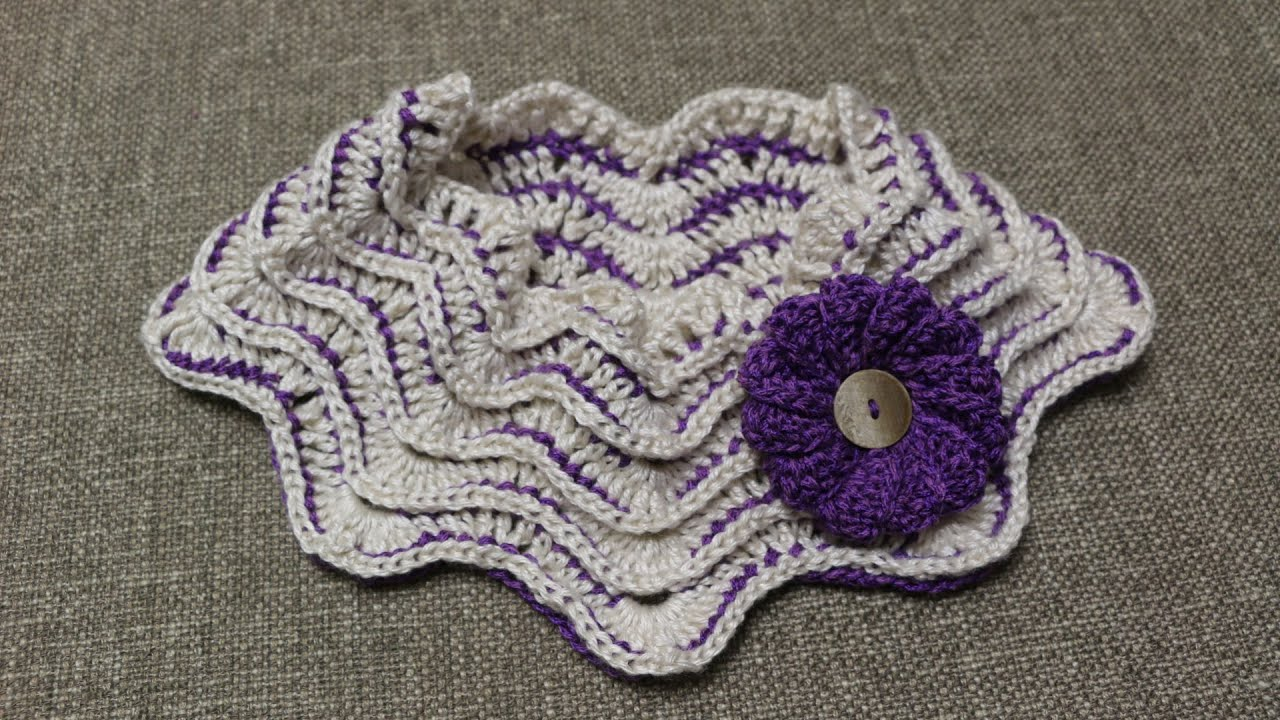 Cuello Zig Zag Crochet - YouTube