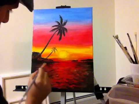 Sunset Painting Youtube