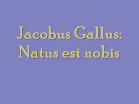 Jacobus Gallus: Natus est nobis
