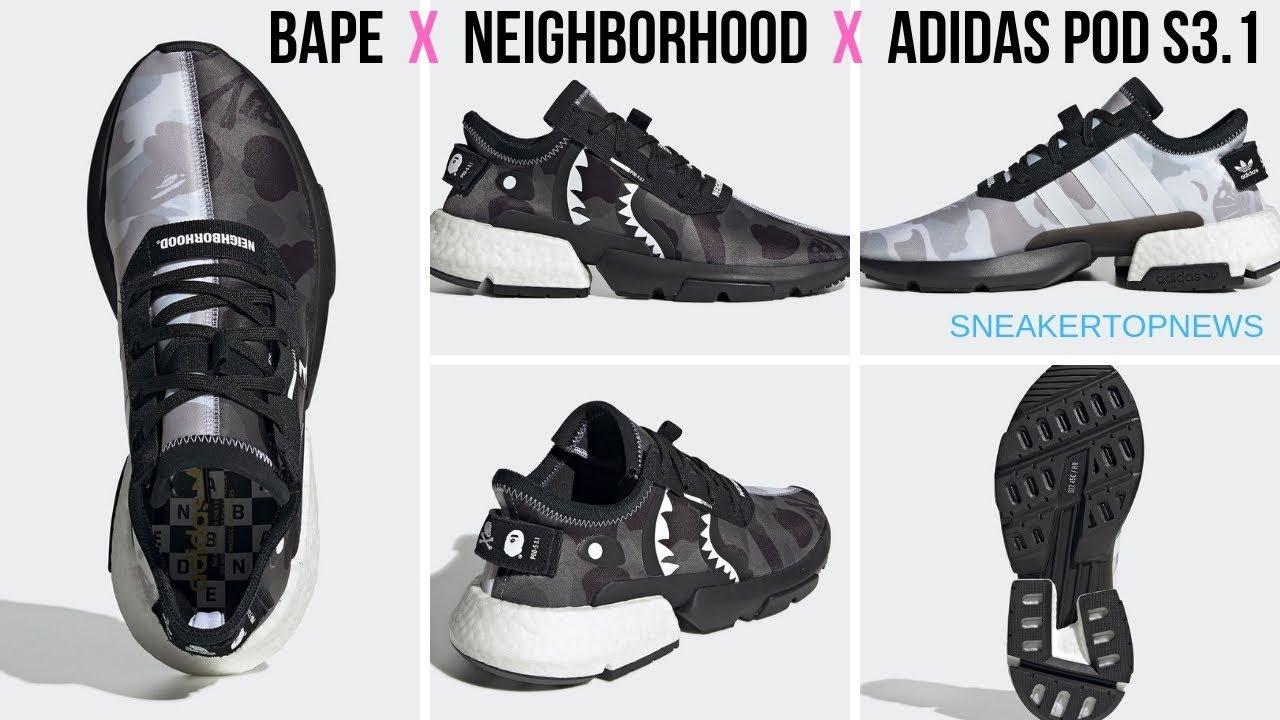 99034cb5a61 The BAPE x Neighborhood x adidas POD s3 1 | a bathing ape nmd bape hoodie