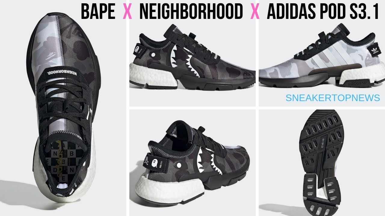 BAPE NEIGHBORHOOD adidas NMD STLT POD Release Info