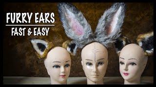 Furry ears - fast & easy! ► Costume Tutorial