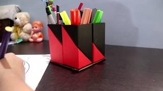 PEN HOLDER/easy to make paper pen holder