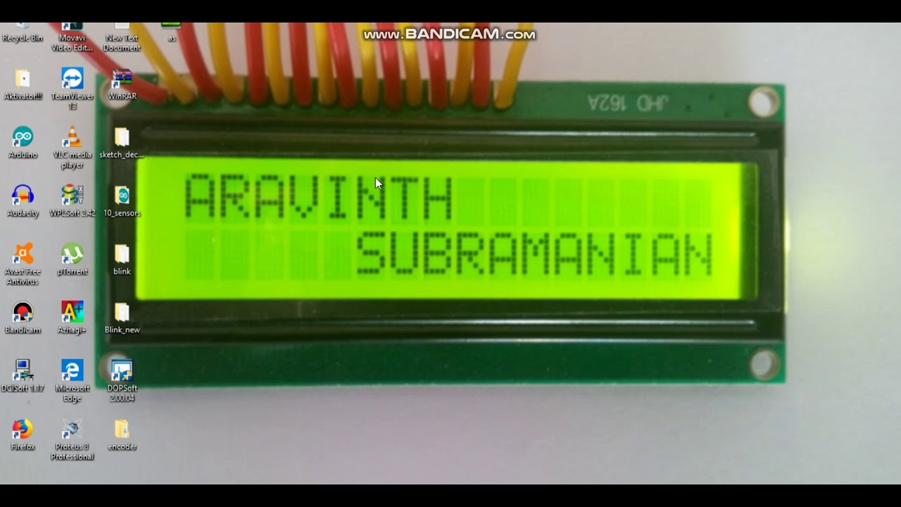 16x2 LCD pin configuration in tamil