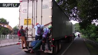 Caravan is on the go again: Hundreds depart southern Mexico for US