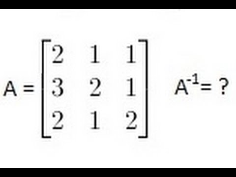 algebra finding the inverse of a matrix 1 of 2 a 3x3 matrix youtube. Black Bedroom Furniture Sets. Home Design Ideas