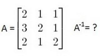 Algebra - het Vinden van de Inverse van een Matrix (1 van 2) EEN 3X3 Matrix