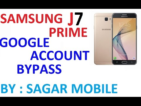 Samsung Galaxy J7 Prime Google Account Bypass