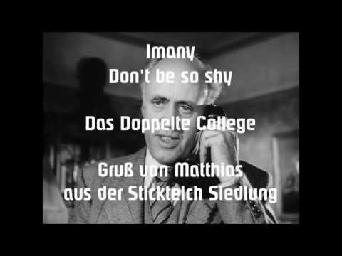 """IMANY Don't be so Shy """"Das Doppelte College"""" (MIX) (2-Ton)"""