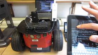 wifi controlled p3at mobile robot part 1 of 3 iphone galaxy tab laptop