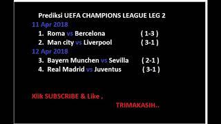 Prediksi MAN CITY VS LIVERPOOL , REAL MADRID VS JUVENTUS CHAMPIONS LEG 2