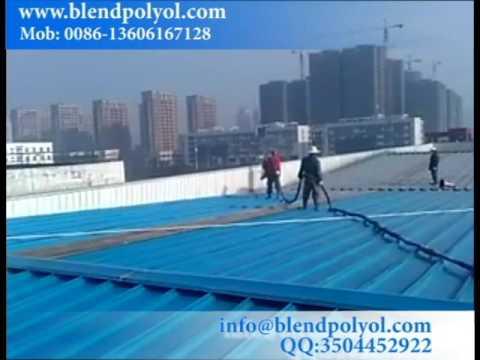 China Spray Polyurea Roof Waterproofing Coating on site