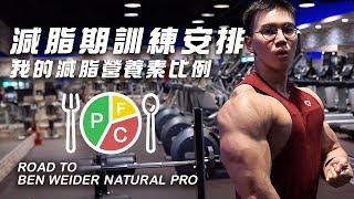 大H | IFBB PRO 備賽計畫EP2 減脂期如何安排訓練 我的減脂營養素比例 雞胸煎餃作法 2019 BEN WEIDER NATURAL PRO PREP