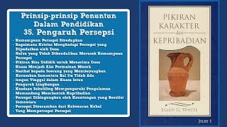 PIKIRAN, KARAKTER DAN KEPRIBADIAN: 35. Pengaruh Persepsi bag. 2 - Pdt. Pardomuan Sibarani