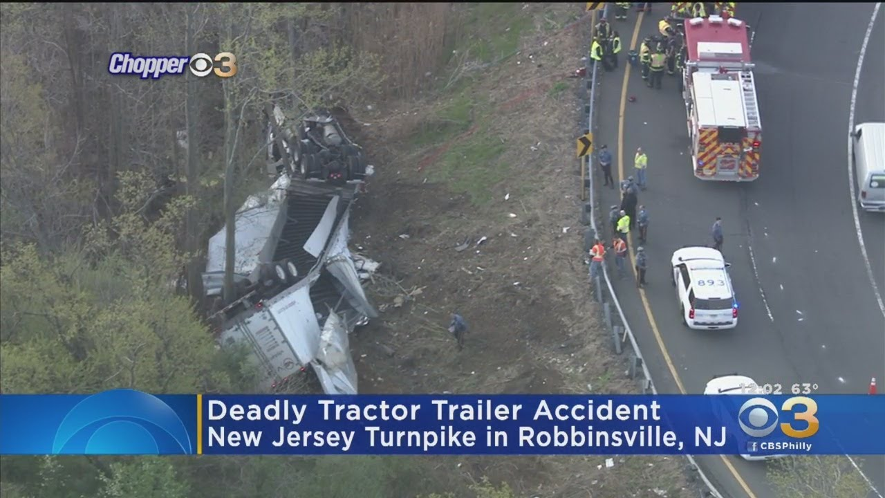 Driver Dead After Tractor-Trailer Crash On New Jersey Turnpike