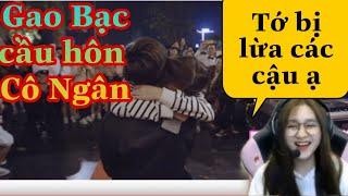 """[Cô Ngân Vlog] Cô Ngân ngượng đỏ mặt khi xem lại buổi """" Gao Bạc cầu hôn Cô Ngân """" tại Hà Nội"""
