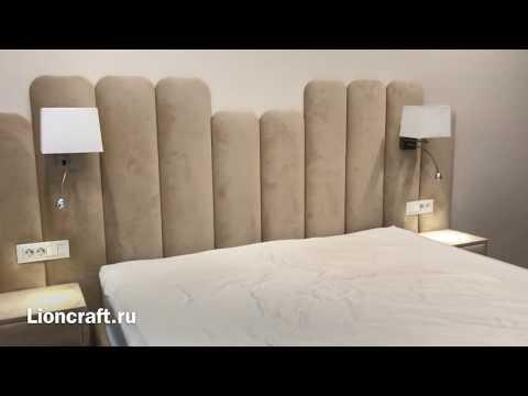 Кровать с мягким изголовьем. Изготовление по дизайн проекту Lioncraft.ru