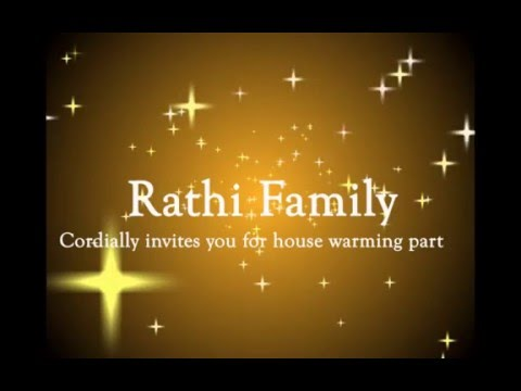 House Warming Invitation - Youtube
