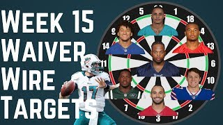 Fantasy Football - Week 15 Waiver Wire Targets