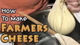 How To Make Farmers Cheese or Paneer Cheese