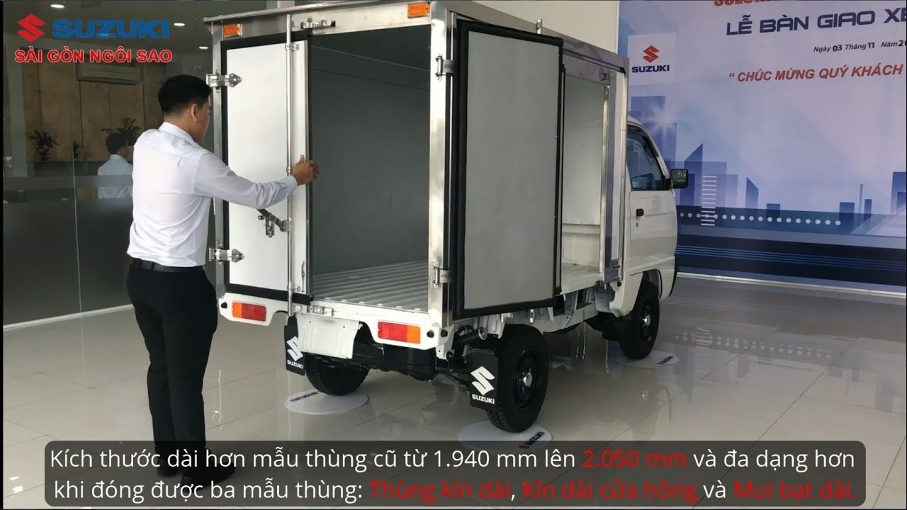 Xe Tải Suzuki Carry Truck 500kg – 650kg Thùng Kín Giá rẻ tại Suzuki Sài Gòn Ngôi Sao