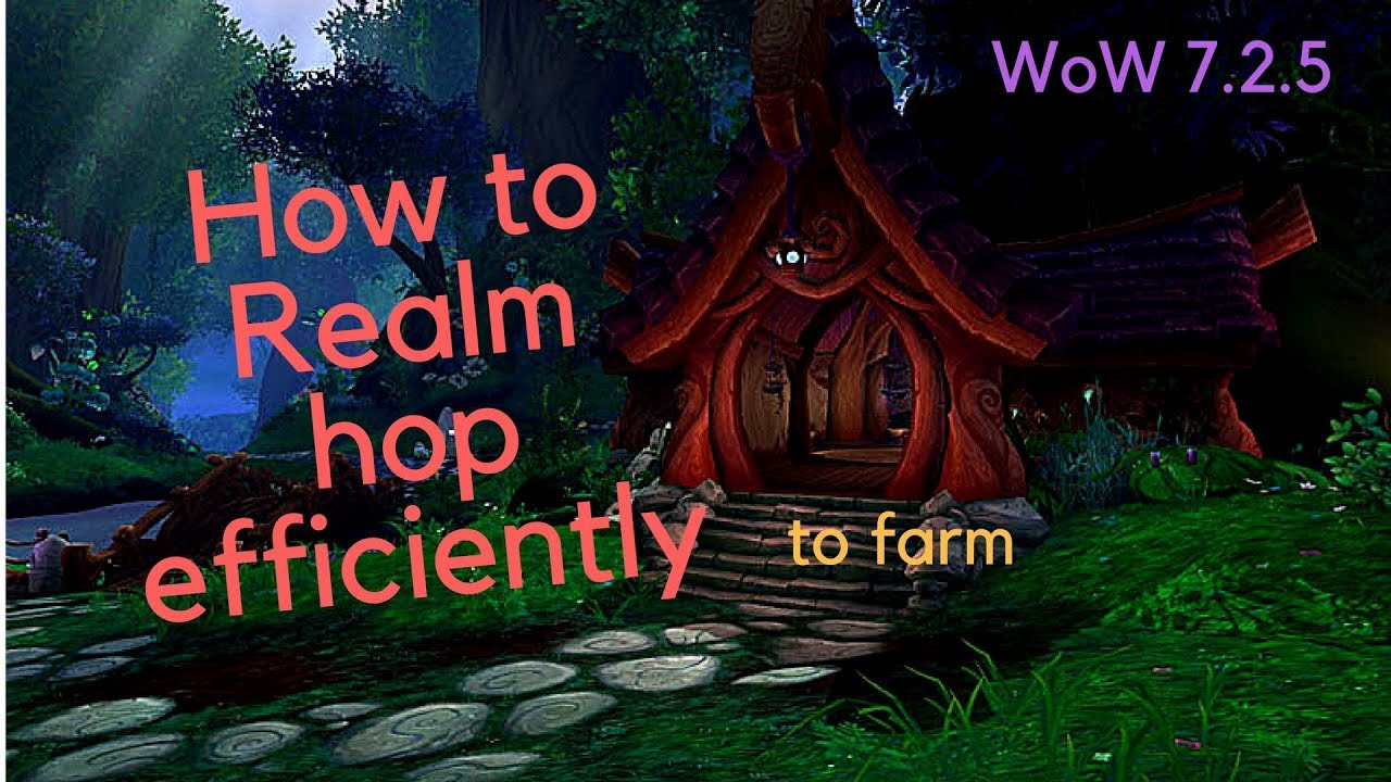 How to Realm hop to gold farm