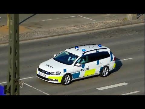 police combivideo politi bil i udrykning