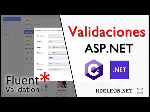 Validación de formularios en ASP.Net con FluentValidation