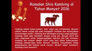 Video Ramalan Shio 2016 Tahun Monyet Api Lengkap Terbaru download MP3, 3GP, MP4, WEBM, AVI, FLV November 2017