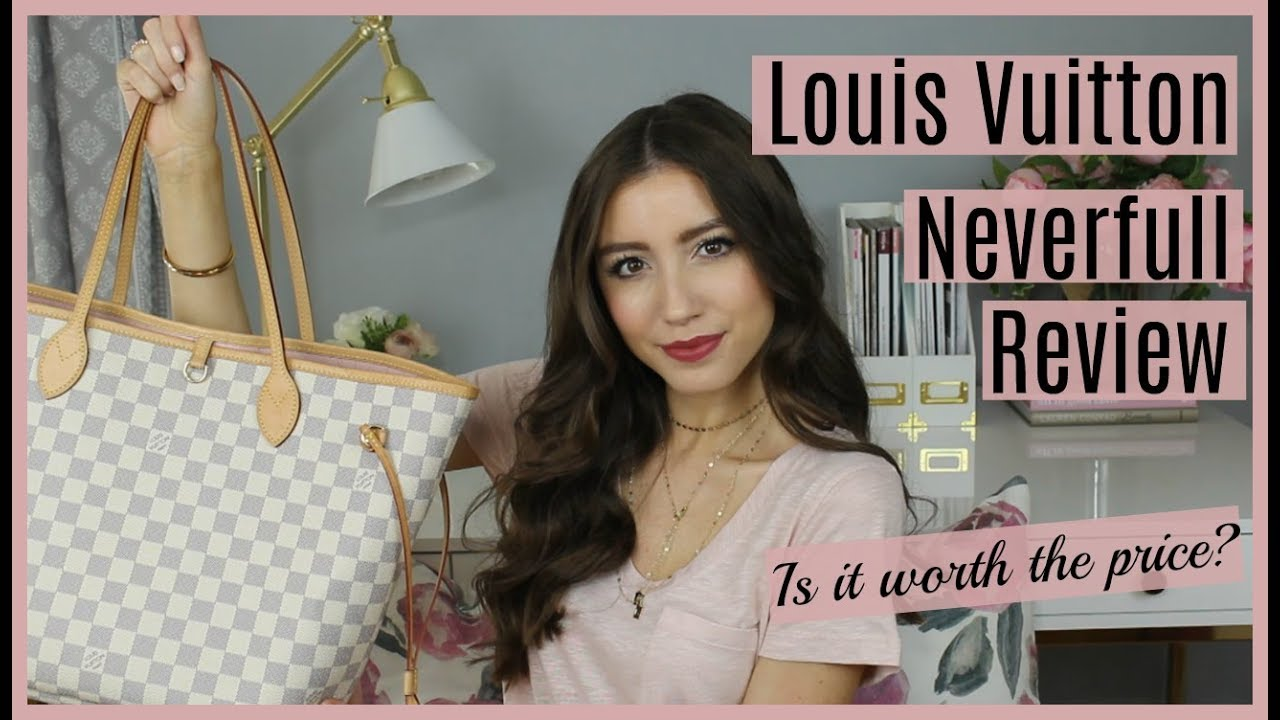 Louis Vuitton Neverfull Mm Damier Azur Rose Ballerine Review What Fits Inside Youtube