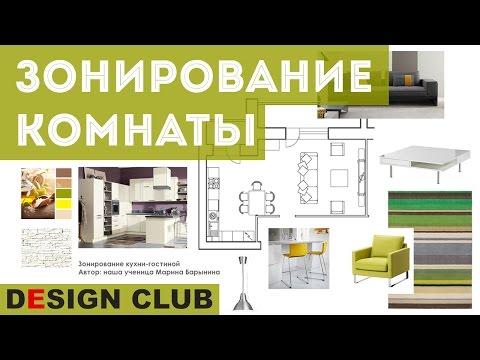 Школа дизайна: ЗОНИРОВАНИЕ КОМНАТЫ. Уроки дизайна интерьера