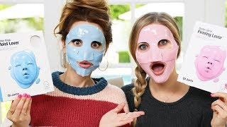 Trying Different Face Masks - Part 2 w/ iJustine!