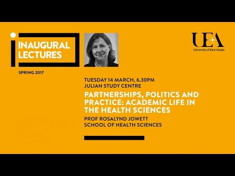 Inaugural Lectures: Academic life in the health sciences  | University of East Anglia (UEA)