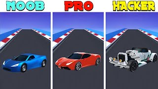 NOOB vs PRO vs HACKER in Race Master 3D screenshot 4