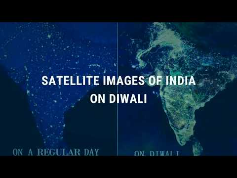 Diwali Satellite Pics of India by NASA (Real and Fake)