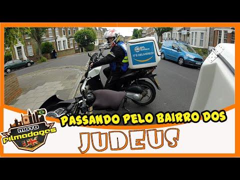 PASSANDO PELO BAIRRO DOS JUDEUS - STAMFORD HILL   ROTINA DE MOTOBOY EM LONDRES   MOTO filmadores UK