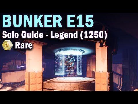 Bunker E15 - Legend Lost Sector -  Solo Guide - 1250 Power - Destiny 2 Beyond Light