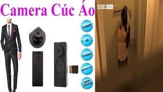 Camera Siêu Nhỏ|| Camera MiNi Ngụy Trang Cúc Áo C8 1080P FULL HD Giá Rẻ - Pin Vĩnh Cửu