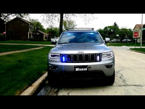 Jeep Grand Cherokee Blue And White Vehicle Warning Lights