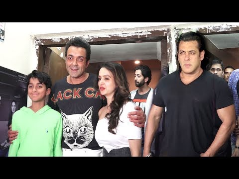 Salman Khan's Race 3 Special Party For Bobby Deol's Comeback To Bollywood Complete Video HD